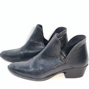 Steve Madden Black Austin Leather Ankle Boots